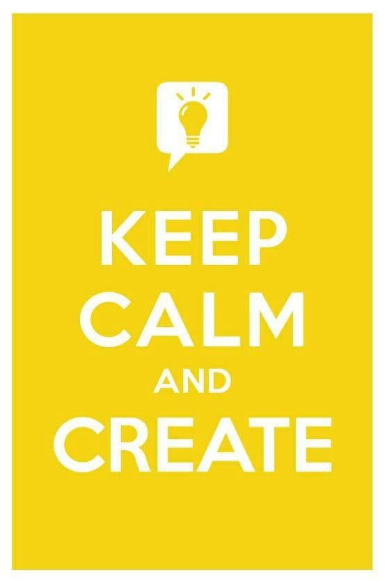 keep calm create